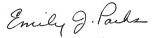 Signature of Emily J. Parks