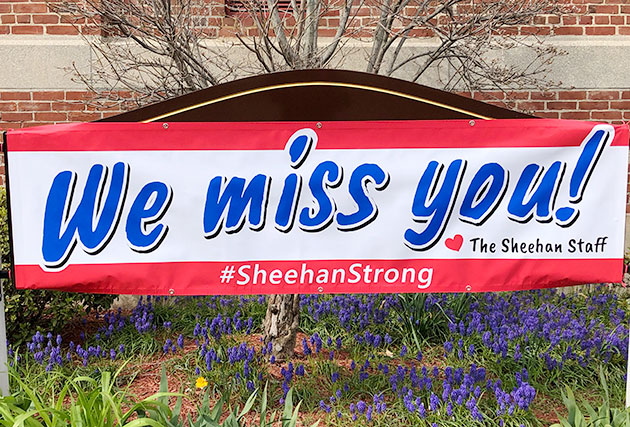 We Miss You on School Sign