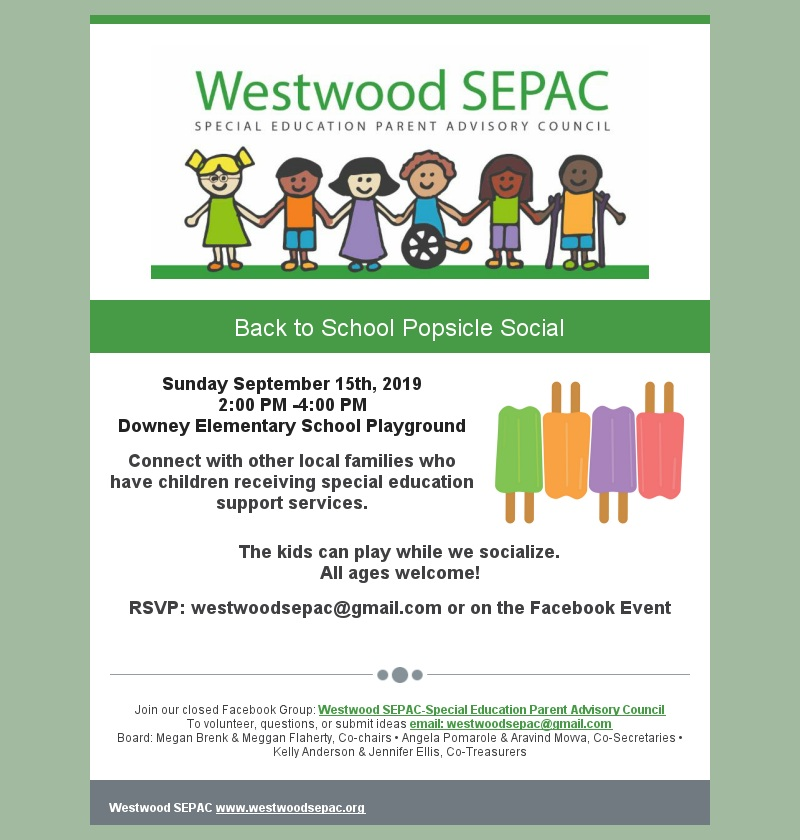 SEPAC Ice cream & popsicle social 9-15-19 color flyer
