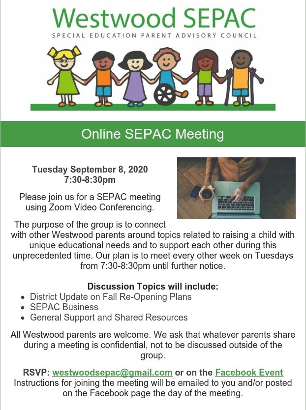 Color flyer online SEPAC meeting 9/8/20