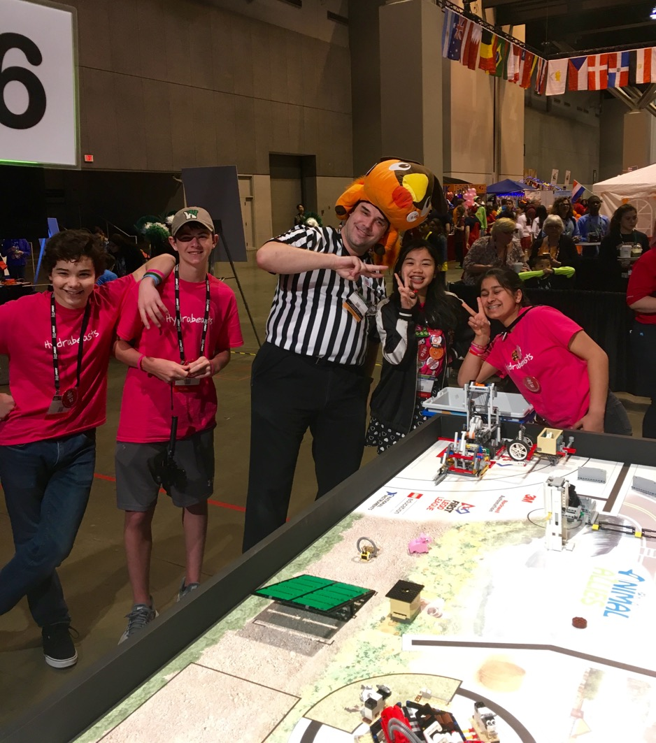 Hydrabeasts at World First Robotics Championship
